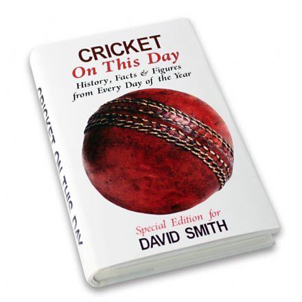 Personalised Book - Cricket On This Day